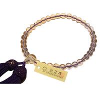 女性用数珠 ハリ水晶 7mm 共仕立 人絹頭房 中郷 1個 (取寄品)