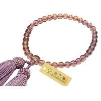 女性用数珠 ハリ藤雲石 7mm 共仕立 人絹頭房 中郷 1個 (取寄品)