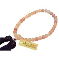 女性用数珠 ハリサンゴ 7mm 共仕立 人絹頭房 中郷 1個 (取寄品)