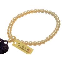 女性用数珠 ハリパール 7mm 共仕立 人絹頭房 中郷 1個 (取寄品)