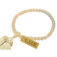女性用数珠 ホワイトオニキス 7mm 共仕立 正絹頭房 中郷 1個 (取寄品)