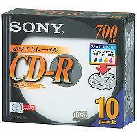 ソニー CD-R700MB5MMプラケース 10CDQ80DPWS 1パック(10枚)