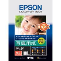 エプソン 写真用紙(光沢) A4 KA4100PSKR 1袋(100枚入)