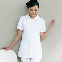 ナースジャケット リアルベーシック 花ボタン BR-1103 ホワイト S オンワード 白衣 (取寄品)