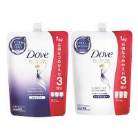 ダヴ(Dove) モイスチャーケア シャンプー&コンディショナー 詰め替え 1000g セット ユニリーバ