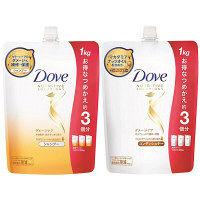 ダヴ(Dove) ダメージケア シャンプー&コンディショナー 詰め替え 1000g セット ユニリーバ