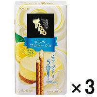 【アウトレット】ロッテ 味わい濃厚トッポ<おりなすフロマージュ~瀬戸内レモン仕立て~> 1セット(2袋入×3個)