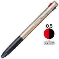 多機能ボールペン ルーチェ 2色+シャープ 0.5mm シャンパンゴールド CPA-181A トンボ鉛筆