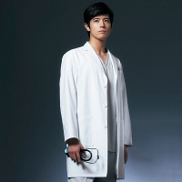 ドクターコート ショート丈 CO-6007 男性用 L オンワード 白衣 (取寄品)
