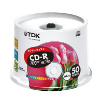 TDK Life on Record CDR700MB 32倍速 フリープリント CD-R80EWX50PS 1パック(50枚入)
