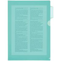 アスクル カラークリアーホルダー A4 10枚 インデックス付 グリーン 緑 ファイル