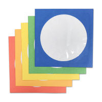 DVD/CD紙封筒ケース 中が見える窓付き5色アソート  1パック(100枚入)