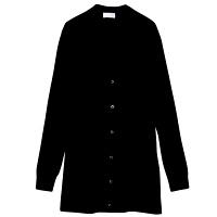 【メーカーカタログ】自重堂 カーディガン(ロング丈) ブラック 4L WH90219 1枚  (取寄品)
