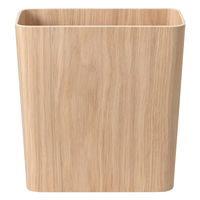 無印良品 木製ごみ箱・袋止めワイヤー付 オーク材突板・角型 02191221 良品計画