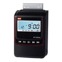 マックス 電波時計タイムレコーダ ブラック 黒 ER-110SUWブラック