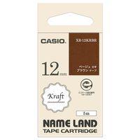 カシオ計算機 カシオ ネームランドテープ クラフト XR-12KRBR XR-12KRBR 1