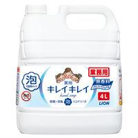 キレイキレイ薬用泡ハンドソープ 無香料  業務用4L 1個 ライオン