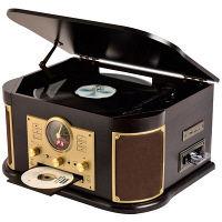 YAMAZEN マルチレコードプレーヤー 茶 MRP-M100CR(DB)