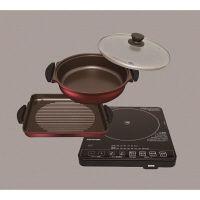 アイリスオーヤマ ガラストップIHクッキングヒーター&焼き肉プレート&鍋セット IHC-T51S-B(561637)