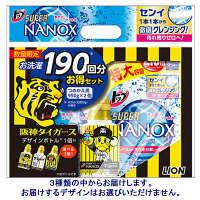 【アウトレット】ライオン トップスーパーNANOX 1900mL 1セット(つめかえ特大2個+阪神ボトル付)