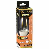 オーム電機(OHM) シャンデリア電球形LED電球 E17 40W相当 電球色 調光対応 LDC2L-E17/D C6