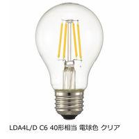 オーム電機(OHM) 一般クリア電球形LED電球 E26 40W相当  電球色 調光対応 LDA4L/D C6