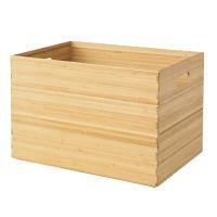 無印良品 重なる竹材長方形ボックス・大 38996552 良品計画