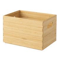 無印良品 重なる竹材長方形ボックス・ハーフ・中 38996583 良品計画