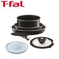 T-fal(ティファール) インジニオ・ネオ 6点セット ハードチタニウム・プラス (鍋 フライパン 取っ手のとれるタイプ) ガス火専用 1セット