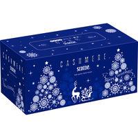ティッシュペーパー スコッティ カシミヤ サファイアクリスマス 220組(1箱) 日本製紙クレシア