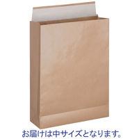 「現場のチカラ」 スーパーバッグ 宅配袋(紙製) ラミネート加工 茶 中サイズ 封かんシール付 1パック(100枚入)