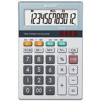 シャープ 12桁小型卓上電卓 EL-M712-K 1セット(3個)