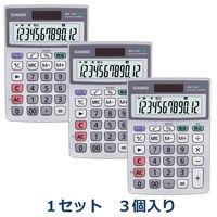 カシオ計算機 グリーン購入法対応電卓 MW-12GT-N 1セット(3個入)