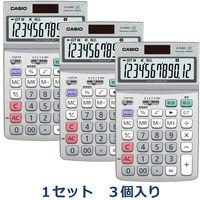 カシオ計算機 グリーン購入法対応電卓 JF-120GT-N 1セット(3個入)