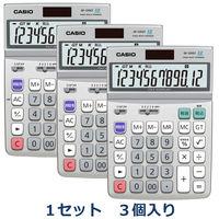 カシオ計算機 グリーン購入法対応電卓 DF-120GT-N 1セット(3個入)
