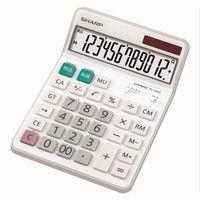 シャープ セミデスクタイプ 電卓 EL-S452X 1セット(3個入)