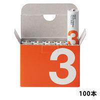 アスクル アルカリ乾電池 単3形 1箱(100本:10本入×10箱)