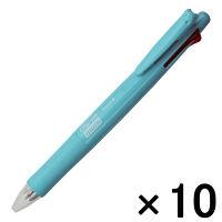 【アウトレット】ゼブラ クリップオンマルチ 4色ボールペン+シャープペン ターコイズブルー 1箱(10本入) B-B4SA1-TBL