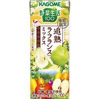 カゴメ 野菜生活100 追熟ラ・フランスミックス 195ml 1箱(24本入)