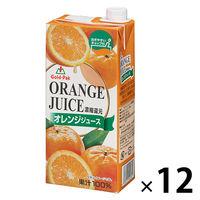 ゴールドパック オレンジジュース 1L 1セット(12本)