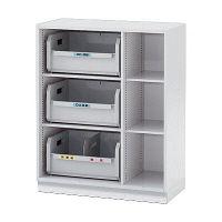 イトーキ シンラインキャビネット リサイクルボックス 下置き用 ホワイト 幅900×奥行450×高さ1098mm AHTM-109BLC1-W9 1台(直送品)