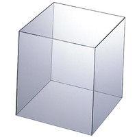 アスクル アクリルキューブボックス 25cm角 745911 1セット(4個:1個×4)