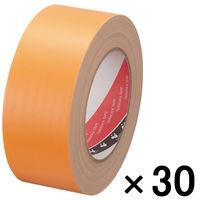 【ガムテープ】布粘着テープ No.145 0.31mm厚 50mm×25m オレンジ オリーブテープ 寺岡製作所 1箱(30巻)