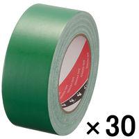 【ガムテープ】布粘着テープ No.145 0.31mm厚 50mm×25m 緑 オリーブテープ 寺岡製作所 1箱(30巻)
