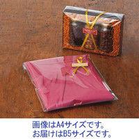 伊藤忠リーテイルリンク OPP袋 0.04mm厚 テープなし B5 透明袋 1セット(500枚:100枚入×5袋)