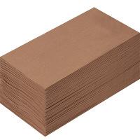 溝端紙工印刷 カラーナプキン 8つ折り 2PLY マロングラッセ 1セット(200枚:50枚入×4袋)