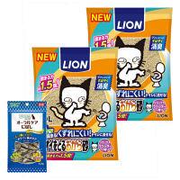 【期間限定特別価格】ペットキレイ ニオイをとるおから砂 5L 2袋+PETKISS(ペットキッス) オーラルケア にぼし 12g 1袋 ライオン商事