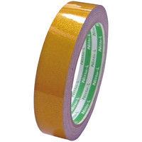 日東エルマテリアル 再帰反射テープ 幅20mm×長さ10m 黄 1セット(5巻:1巻×5) HTー20Y