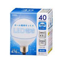 【アウトレット】ボール電球形LED電球 昼光色 40形相当 476lm E26口金 LDG4D-G AH9 1個 オーム電機