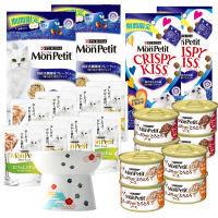 【限定セット】MonPetit(モンプチ) キャットフード 20点入(全6種類)+猫壱フードボウルL 新年お得セット